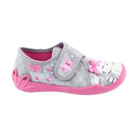 Befado obuwie dziecięce 122X002 różowe szare 6