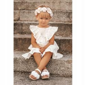FRROCK Dziecięce Sandałki Na Rzep Świecące Białe Milena 5