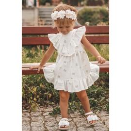 FRROCK Dziecięce Sandałki Na Rzep Świecące Białe Milena 6