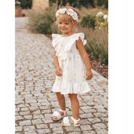 FRROCK Dziecięce Sandałki Na Rzep Świecące Białe Milena 7