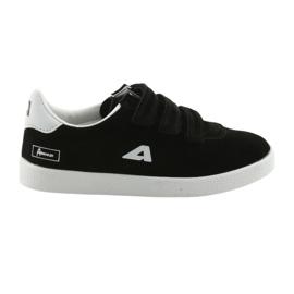 Buty Sportowe wkładka skórzana  American Club BS06 białe czarne 6
