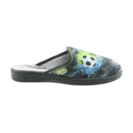 Befado buty dziecięce kapcie klapki 707Y395 niebieskie szare zielone 6