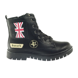 American Club American super Workery buty zimowe czarne żółte czerwone 6