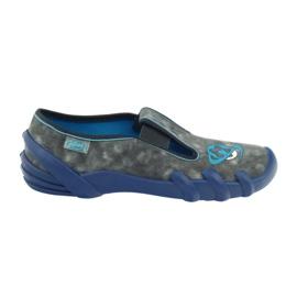 Befado buty dziecięce kapcie 290y163 niebieskie szare 6