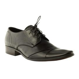 Półbuty buty męskie skórzane Pilpol 1138 czarne 1