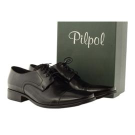 Półbuty klasyczne czarne Pilpol L005 4