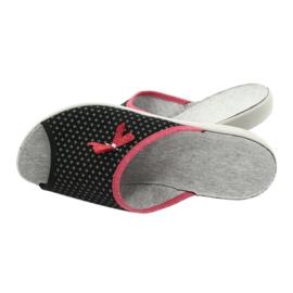 Befado obuwie damskie pu 254D109 czarne czerwone 5