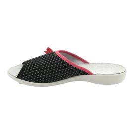 Befado obuwie damskie pu 254D109 czarne czerwone 2