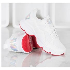 SHELOVET Wygodne Białe Sneakersy 2