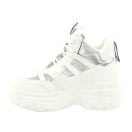 Evento Wysokie buty sportowe 20BT26-3192 białe srebrny 2