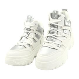 Evento Wysokie buty sportowe 20BT26-3192 białe srebrny 3