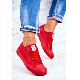 Damskie Trampki Cross Jeans Czerwone DD2R4032 4