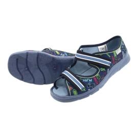 Befado obuwie dziecięce 969Y161 granatowe wielokolorowe 4