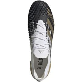 Buty piłkarskie adidas Predator Mutator 20.1 L M Fg FW9182 białe szare 1