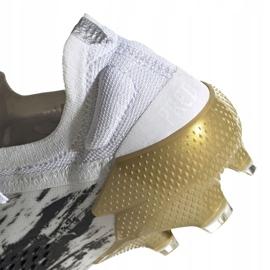Buty piłkarskie adidas Predator Mutator 20.1 L M Fg FW9182 białe szare 3