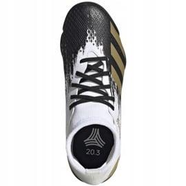 Buty piłkarskie adidas Predator 20.3 Tf Jr FW9220 białe szare 1