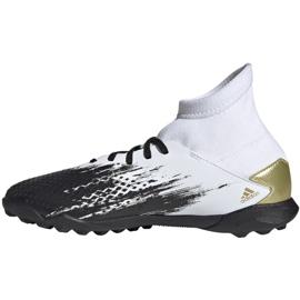 Buty piłkarskie adidas Predator 20.3 Tf Jr FW9220 białe szare 2