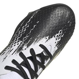 Buty piłkarskie adidas Predator 20.3 Tf Jr FW9220 białe szare 3