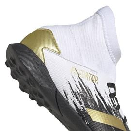 Buty piłkarskie adidas Predator 20.3 Tf Jr FW9220 białe szare 4
