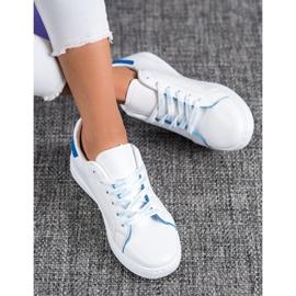 SHELOVET Modne Buty Sportowe białe niebieskie 2