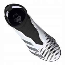 Buty piłkarskie adidas Predator 20.3 Ll Tf Jr FW9211 białe czarny, biały, czarny, szary/srebrny 4