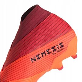 Buty piłkarskie adidas Nemeziz 19+ Fg M EH0772 pomarańczowe wielokolorowe 2