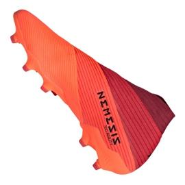 Buty piłkarskie adidas Nemeziz 19+ Fg M EH0772 pomarańczowe wielokolorowe 6