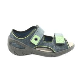 Befado obuwie dziecięce 065X141 szare zielone 1