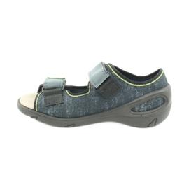 Befado obuwie dziecięce 065X141 szare zielone 2