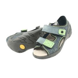 Befado obuwie dziecięce 065X141 szare zielone 4