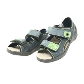 Befado obuwie dziecięce 065X141 szare zielone 3