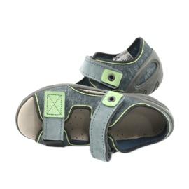 Befado obuwie dziecięce 065X141 szare zielone 5