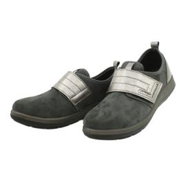 Befado obuwie damskie 156D003 czarne szare 4