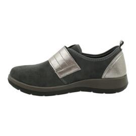 Befado obuwie damskie 156D003 czarne szare 3