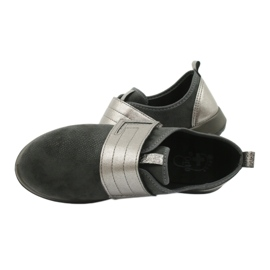 Befado obuwie damskie 156D003 czarne szare 7