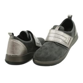Befado obuwie damskie 156D003 czarne szare 5