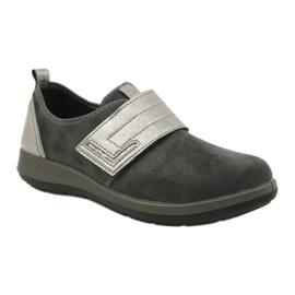 Befado obuwie damskie 156D003 czarne szare 2