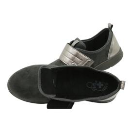Befado obuwie damskie 156D003 czarne szare 8