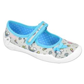 Befado obuwie dziecięce 114X391 niebieskie szare 1