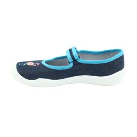 Befado obuwie dziecięce 114Y400 granatowe niebieskie 2