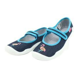 Befado obuwie dziecięce 114Y400 granatowe niebieskie 3