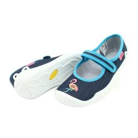 Befado obuwie dziecięce 114Y400 granatowe niebieskie 4