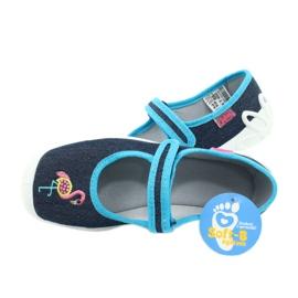 Befado obuwie dziecięce 114Y400 granatowe niebieskie 5