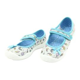Befado obuwie dziecięce 114X391 niebieskie szare 3