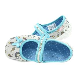 Befado obuwie dziecięce 114X391 niebieskie szare 5