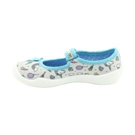 Befado obuwie dziecięce 114X391 niebieskie szare 2