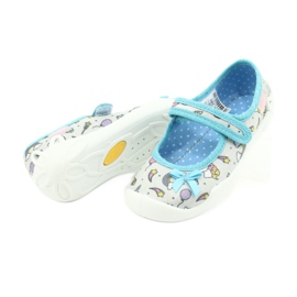 Befado obuwie dziecięce 114X391 niebieskie szare 4