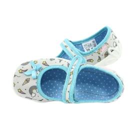 Befado obuwie dziecięce 114X391 niebieskie szare 6