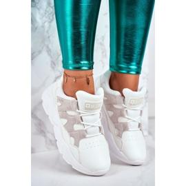 Damskie Sportowe Buty Big Star Białe GG274635 4