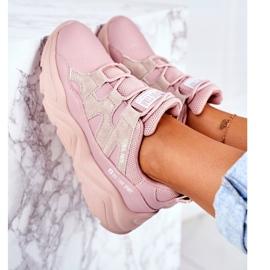 Damskie Sportowe Buty Big Star Różowe GG274637 5
